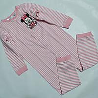 Кигуруми, пижама для девочки розовая в полоску H&M Disney р.104см.