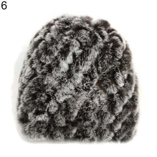 Женская меховая шапка из кролика шиншиллы Диагональ