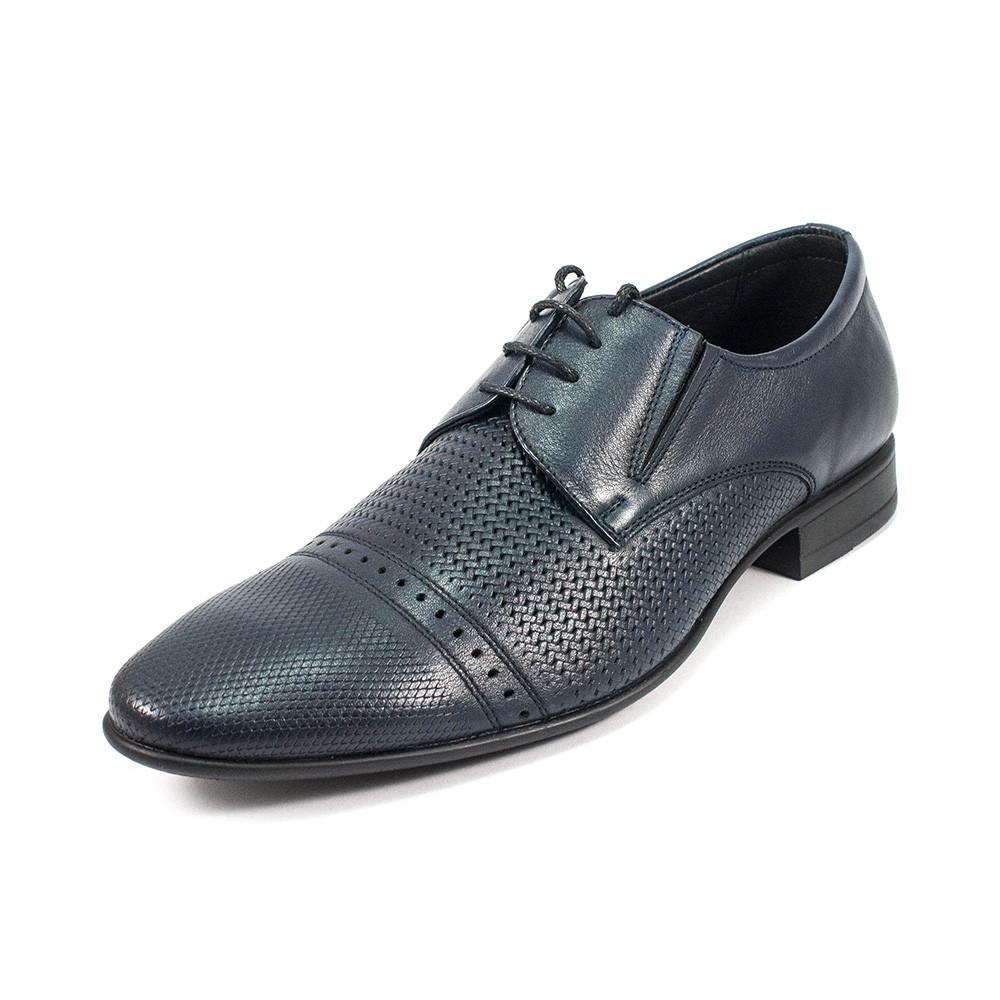 Туфли мужские MIDA 13310-29 темно-синяя кожа (44)