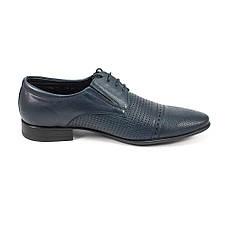 Туфли мужские MIDA 13310-29 темно-синяя кожа (44), фото 2