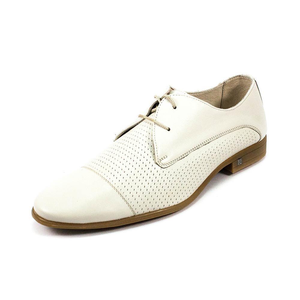Туфли мужские MIDA 13271-14 белая кожа (43)
