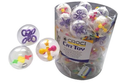 Игрушка для кот. CROCI Мяч сюрприз, Д=4,3см, 57шт/уп (цена за 1шт)