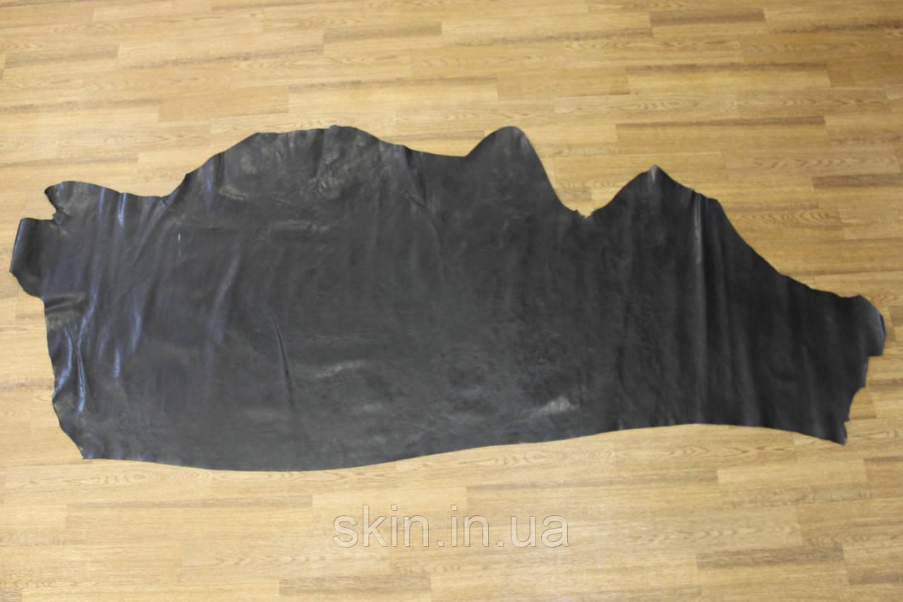 Кожа натуральная черного цвета, толщина 1.0 мм, арт. СК 2237-16