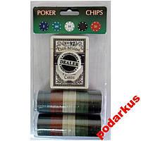 Покерный набор на 80 фишек Покер фишки для покера