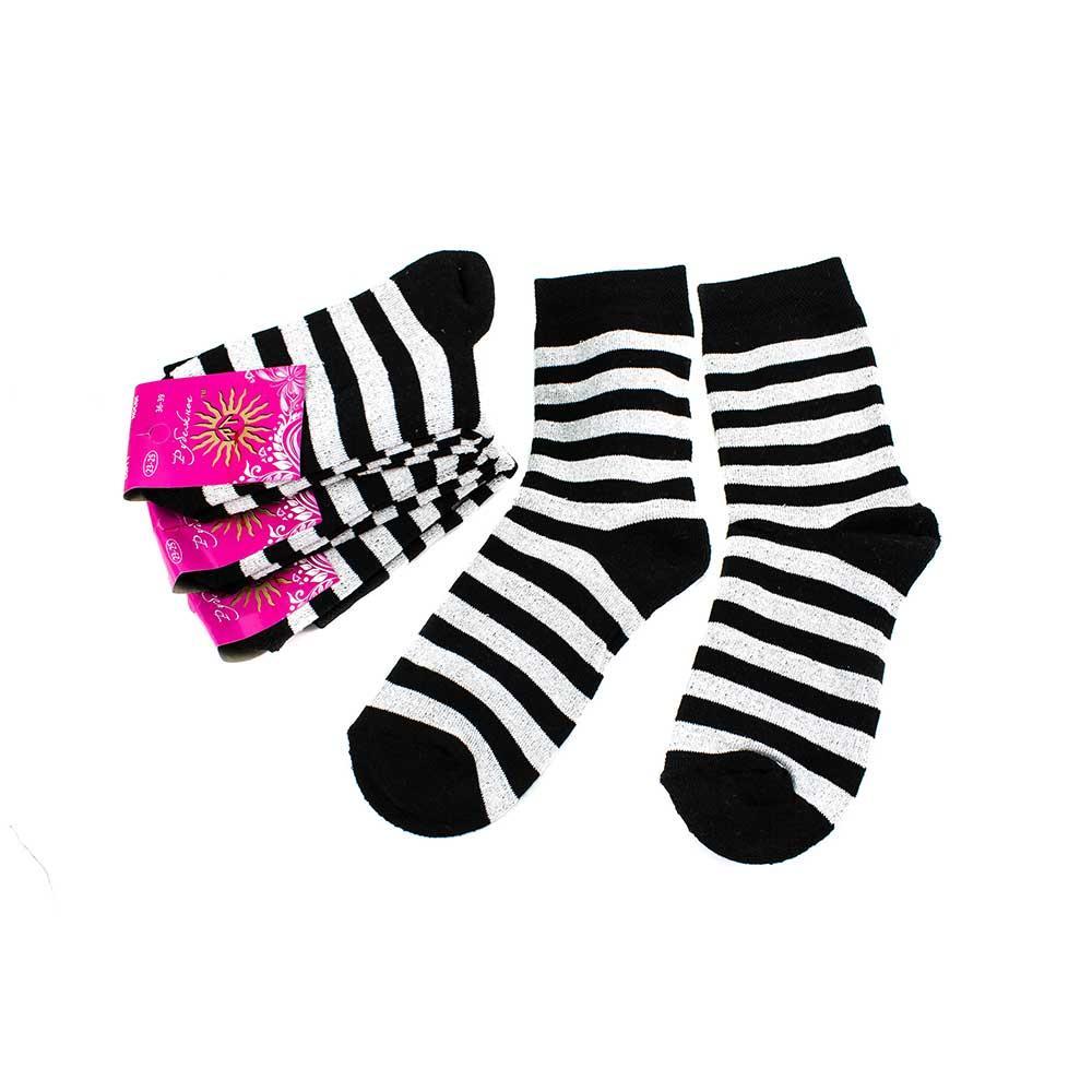 Носки женские Рубеж-Текс 122 черные полоска 36-39