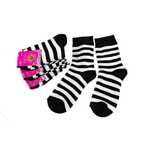 Носки женские Рубеж-Текс 122 черные полоска 36-39, фото 2