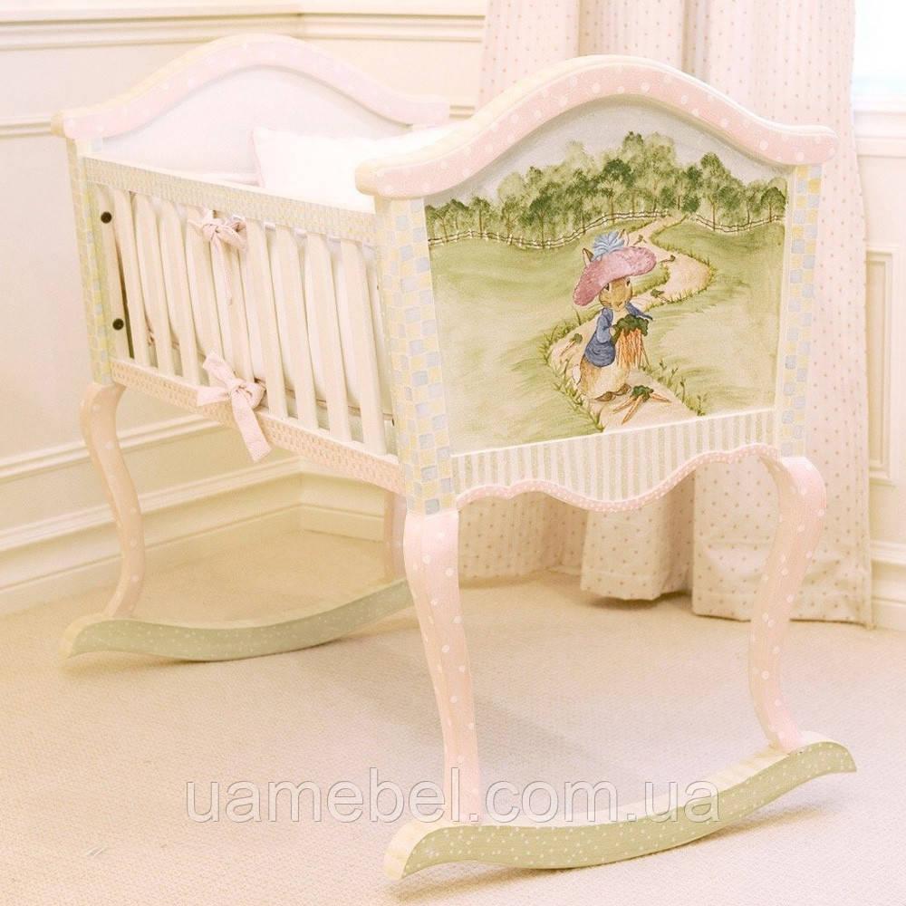 Кроватка качалка Винтаж (закажи по телефону - получи бесплатную доставку)