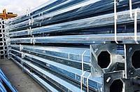 Опора уличного освещения стальная оцинкованная многогранная 8 м/4 мм