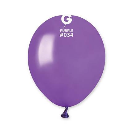 "Шар 5"" (12 см) Gemar металлик 34 фиолетовый (Джемар), фото 2"