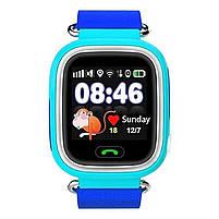 ✸Детские cмарт-часы UWatch Q90 Blue с функцией GPS\A-GPS трекера Wi-Fi сенсорный цветной экран Android IOS, фото 5