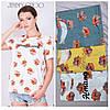 Свободная футболка прямого кроя (42-44 в расцветках), фото 2