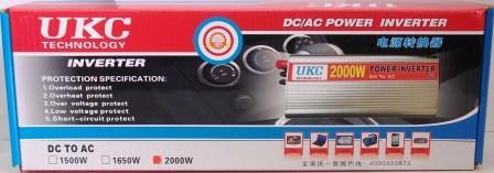 Автомобильный инвертор 24/220 UKC 2000 ватт