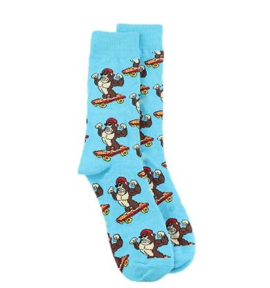 Прикольные мужские носки с принтом Обезьяны