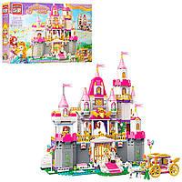 Конструктор детский, конструктор для девочки BRICK 2612 замок принцессы, карета, фигурки, 940дет 11/28.8