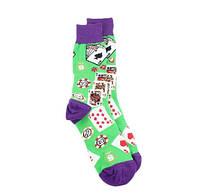 Прикольні чоловічі шкарпетки з принтом Покер, фото 2