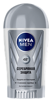 Дезодорант-антиперспирант Nivea For Men Silver Серебряная защита с ионами серебра стик 40г