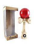 Іграшка Samurai Kendama Bamboo Red (Кендама), фото 3