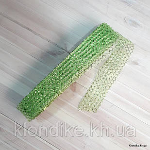 Регилин с Люрексом, ширина: 4 см, Цвет: Салатовый