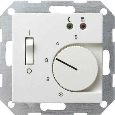 Терморегулятор с датчиком температуры пола GIRA System 55 белый матовый