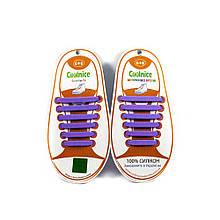 Силіконові шнурки 6х6 фіолетові