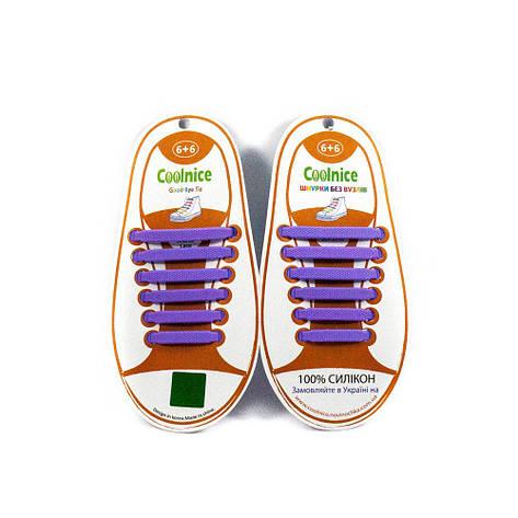 Силіконові шнурки 6х6 фіолетові, фото 2