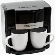 Кофеварка Domotec MS-0708 Black + 2 керамические чашки