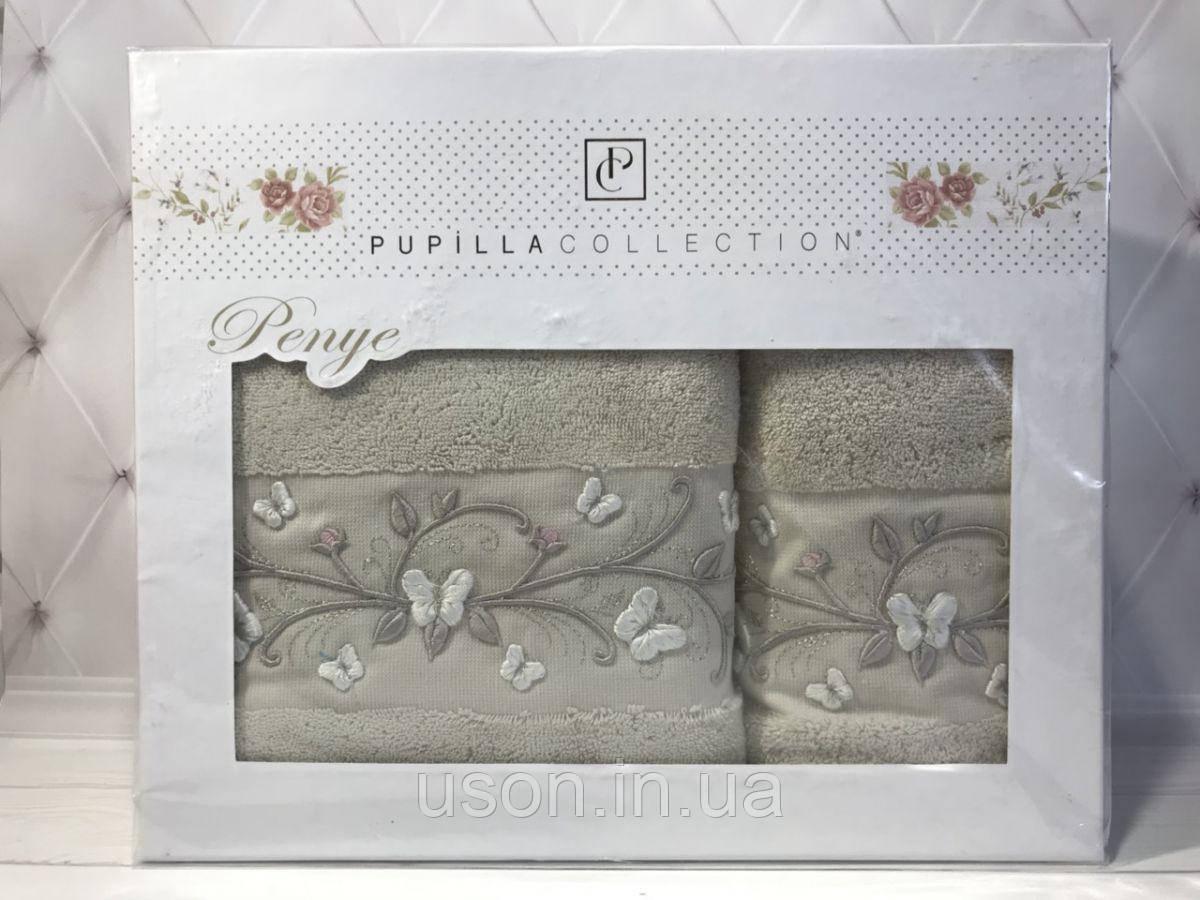 Набор трикотажных полотенец  50*90 и 70*140 TM PUPILLA  Турция  Eva Trikotazh 3D-13