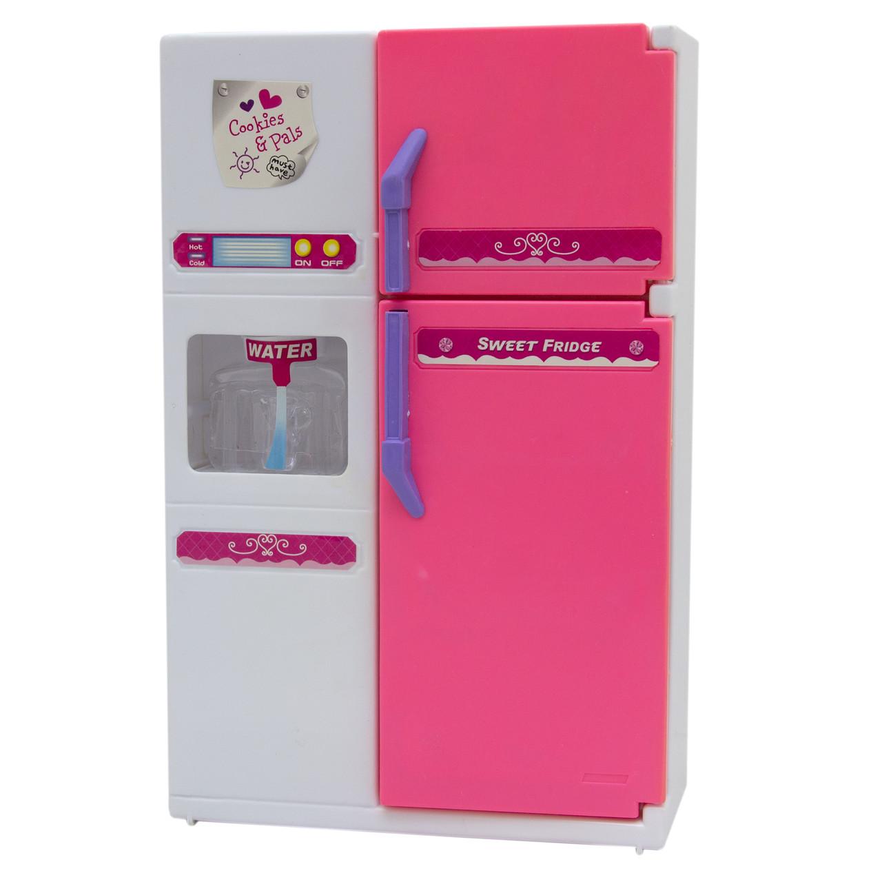 """Игровой набор Кукольная кухня """"Милый дом""""-холодильник, розовая (2550P)"""