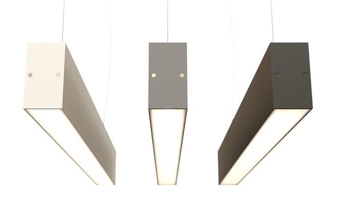 Торгово-офисный линейный LED светильник 72W IP44 2400 мм