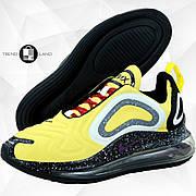 Мужские кроссовки в стиле Nike Air Max 720 Yellow/Black