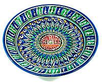 Тарелка узбекская диаметр 23см высота 3см ручная работа 2303-10