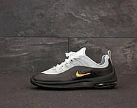 Кроссовки Nike Air Max Axis мужские, черно-серые в стиле Найк Аксис, текстиль код KD-12032