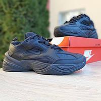 Мужские кроссовки Nike M2K Tekno (Найк М2К Техно), черные, код OD-1981