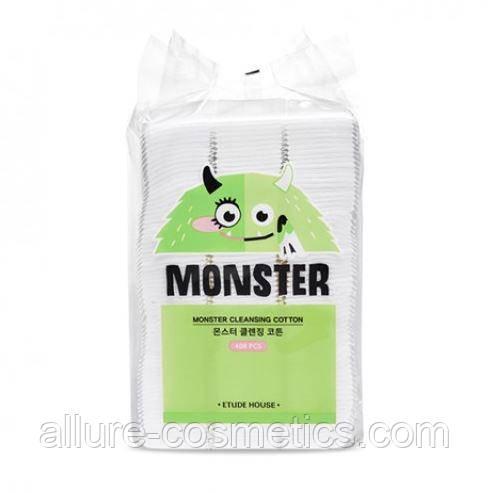 Ватные диски для очищения кожи ETUDE HOUSE Monster Cleansing Cotton 408шт