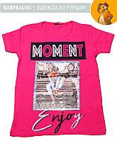 Стильная футболка  для девочки Moment (от 5 до 8 лет)