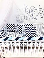 Защита в кроватку  бортики подушки «Автопарк»