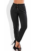 Женские брюки-блумерсы приталенные изумрудные высокой посадки размер XL+