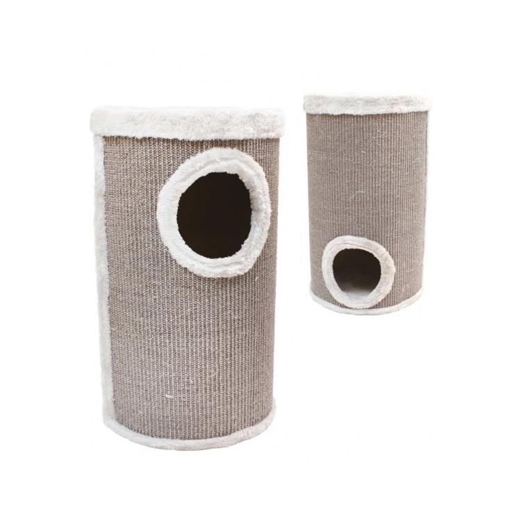 Когтеточка CROCI Cat Tower 2, сезаль/плюш, 35х35х60см