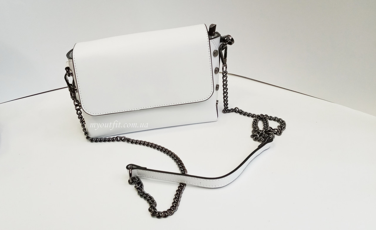 Женская кожаная сумка коробка