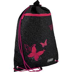 Сумка для обуви с карманом Kite Education Butterfly tale Черная (K20-601M-13)