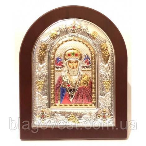 Ікона свт. Микола 18х22 емаль