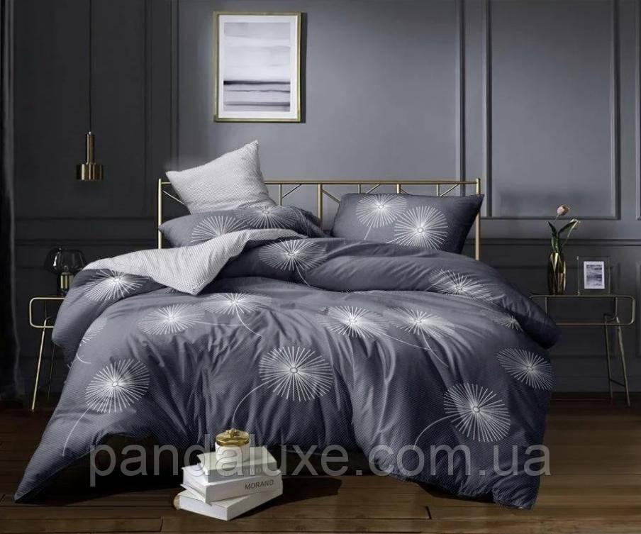Постельное белье бязь голд, красивый двуспальный комплект Одуванчики большие