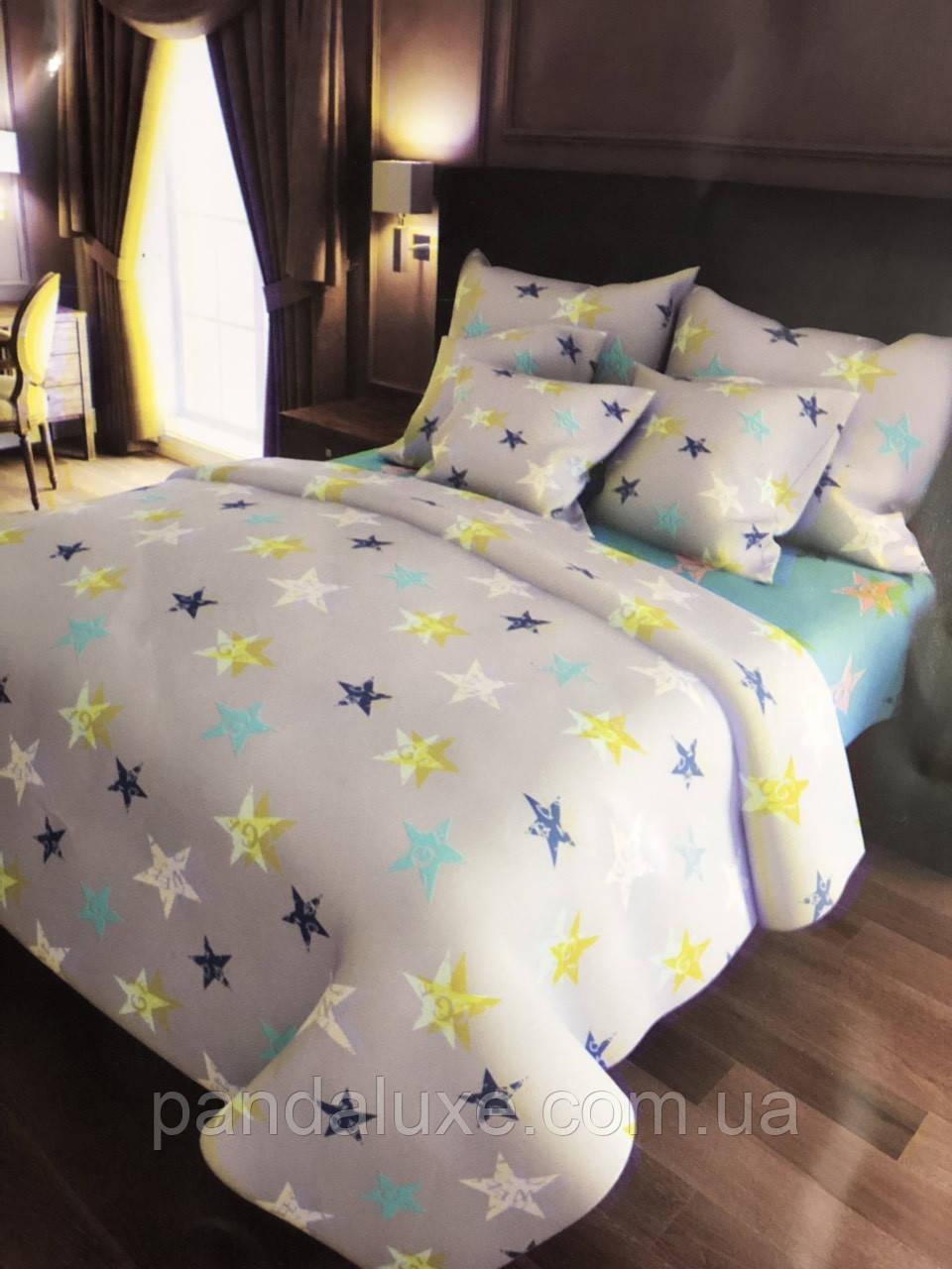 Постельное белье бязь голд, красивый двуспальный комплект Галактика