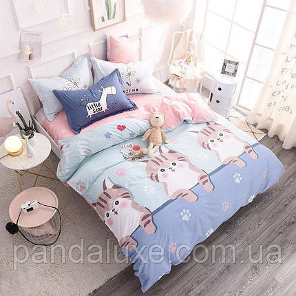 Постельное белье бязь голд, красивый двуспальный комплект Котята, фото 2