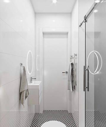 Стеклянные раздвижные двери в душ, фото 2
