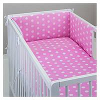 """Комплект постельных принадлежностей в кроватку (11 предметов) """"Розочка""""(розовый) ТМ """"Хатка"""""""
