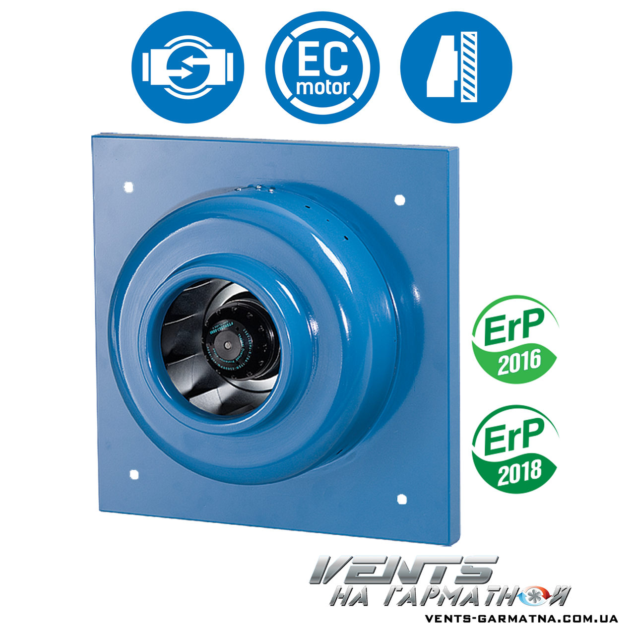 Вентс ВЦ-(ПК/ПН/ВК/ВН) 250 Б. Канальный центробежный вентилятор