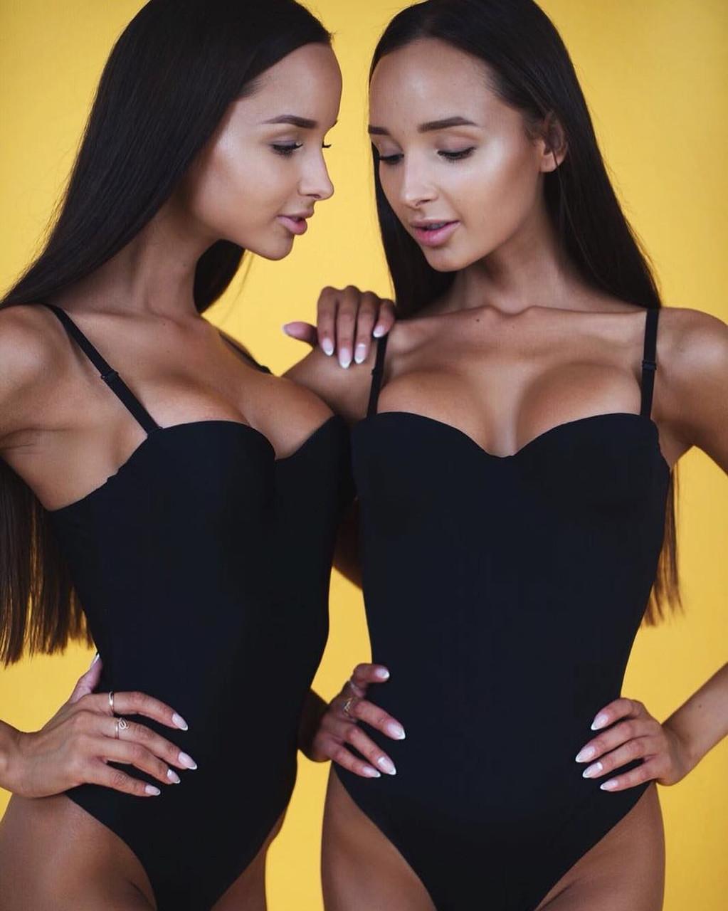 Шикарное сексуальное трендовое боди с пушапом пуш-ап черное базовое