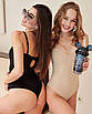 Шикарное сексуальное трендовое боди с пушапом пуш-ап черное базовое, фото 4