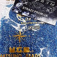 Рубка Matsuno 45 11/0 2CUT 100гр Голубой, внутренний цвет серебро